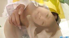 Azumi Harusaki takes down panties for a good masturbation