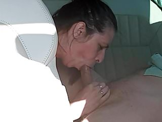 Normal woman suck my dick in me in car.