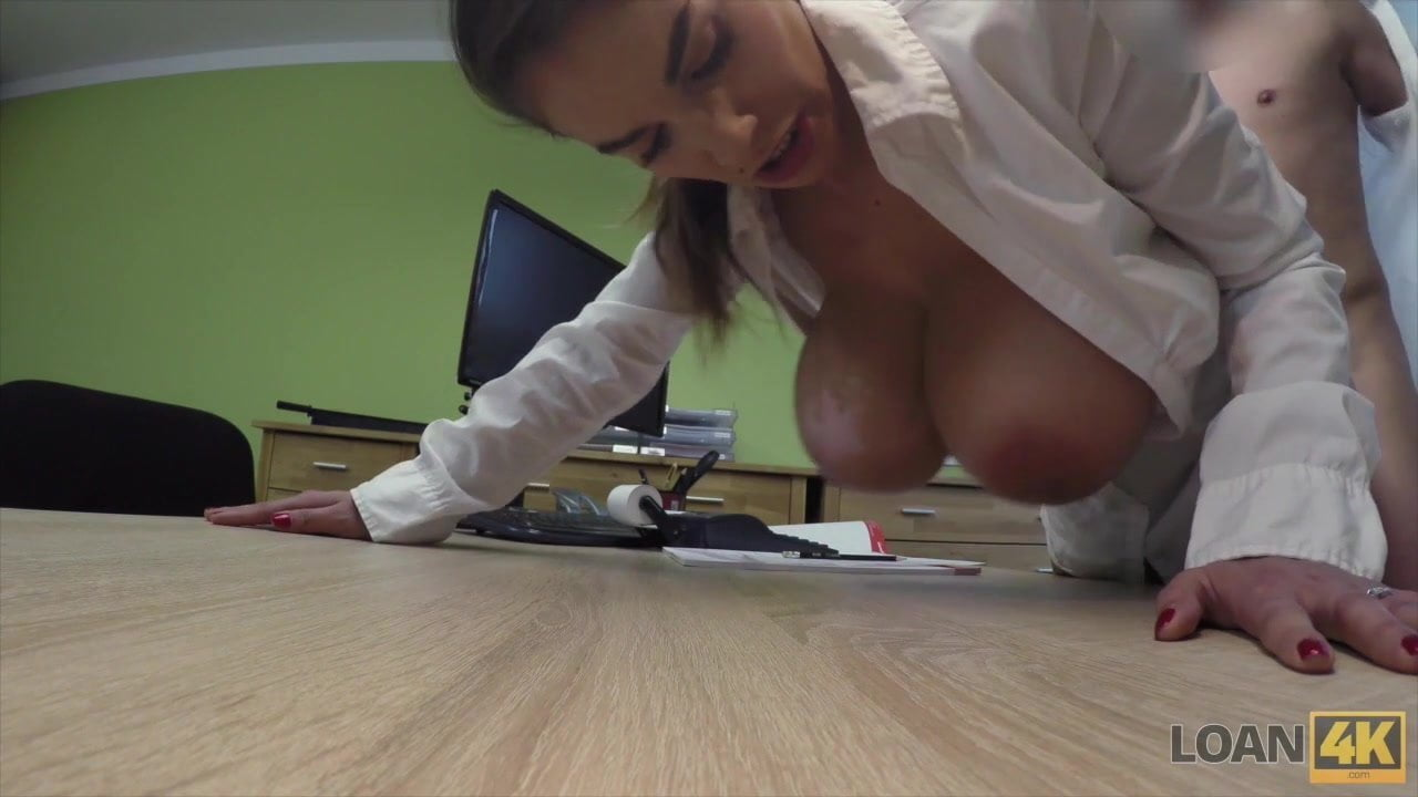 Hot Mischel Lee has to pay for her boobs so she uses them
