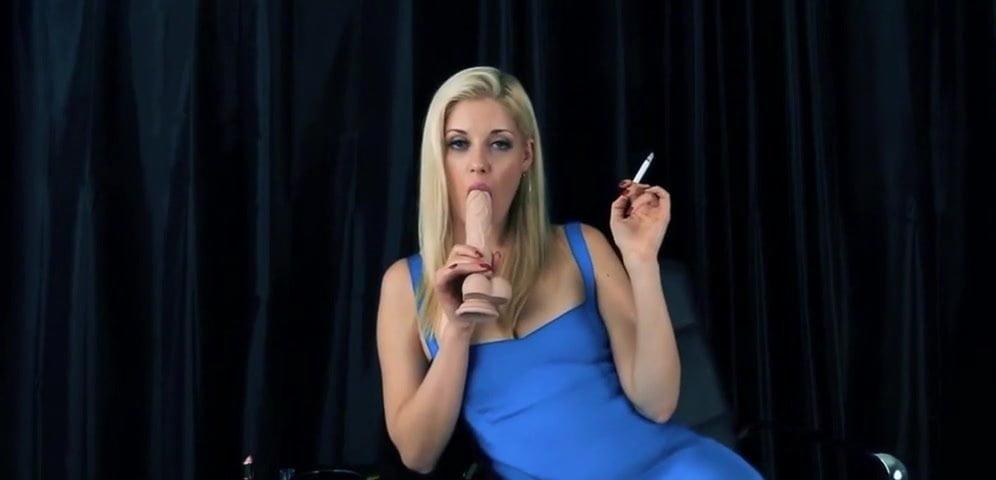 Blonde Charlotte stokely smoking fetish