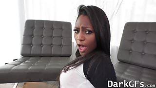 Amazing ebony chick Lexi Rose getting her pussy pounded hard