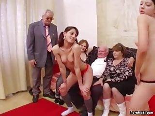 Hot Babes Suck Grandpa S Cock