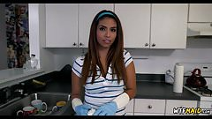 Hot Latina Maid Makes some Extra Money