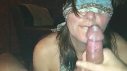 Blindfold rimjob milf is back