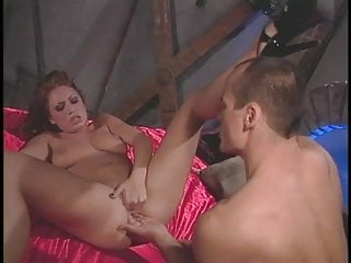 Stud with a huge dick gets a hot blowjob tight pussy from a pretty brunette