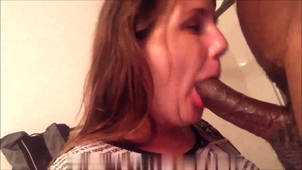 Married spouse sucking her husband's good friend's black dick