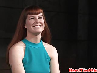 Ginger sub fingered and toyed by black dom