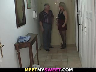 Preview 1 of Old couple have fun with son's gf