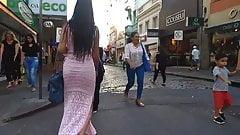 Morena top de vestido colado transparente