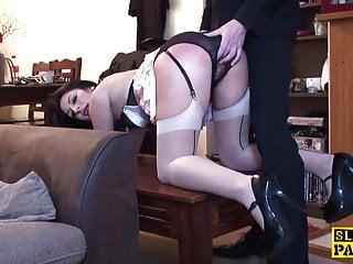 British sub slut dominated with dick