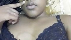 hot & Sexy black girl doing selfies in bed.mp4