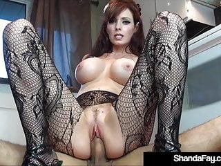 Sex Crazed Cougar Shanda Fay Fucks Hubby On Kitchen Floor