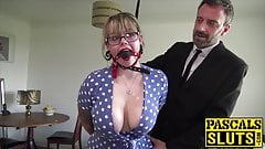 Lovely Madison Stuart bound for maledom dick insertion
