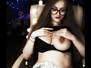 flashing her perfect tits