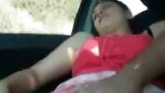 Arab Girl Fingered & Moans In The Car