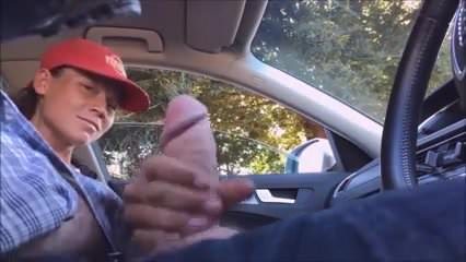 Hitch hiker jerks off her driver 7