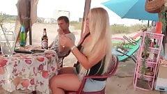 smoking hot blond girl