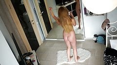 Czech cute girl nude selfie - hidden spy cam