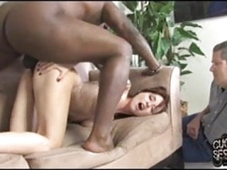 Black Guy Breeding White Wife In Front Of Cuckold