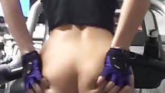 Naughty nerdy gym girl