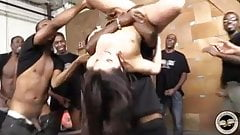 White girl Valentina Nappi used by black gang