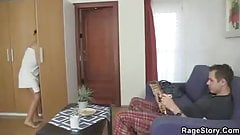Czech brunette takes it rough after shower