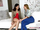 Classy MILF queened by lesbian stepdaughter