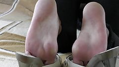 My feet sweaty