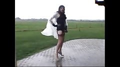 crossdresser outdoors