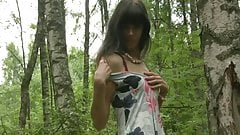 Jessica - nude in the woods