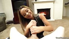Super hot teen POV handjob