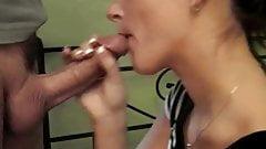 Cut cock blowjob