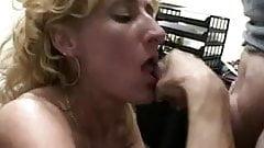 Blonde mature 50y blowjob