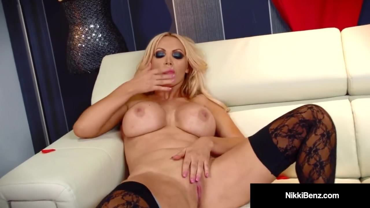 Mature Smoking Blonde and Fingering