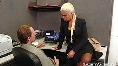 naughty america Bridgette B. fucking in the office