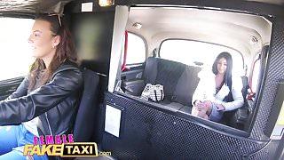 Female Fake Taxi Sex toys make toned babe cum hard