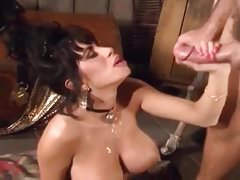 Big Tits Retro Brunette Takes Jon Doughs Cock In Every Hole