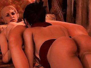 Dragon Age lesbisk sex iPhone porr filmer