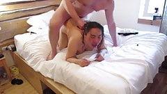 Thai Fat slut BBW Mature rough fuck with British Bull