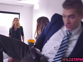 Taylor Sands takes a big one up her ass encouraged by Briana