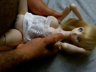 Blonde cute anime Dollfie onahole doll fuck