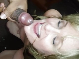BBC facial for hotwife
