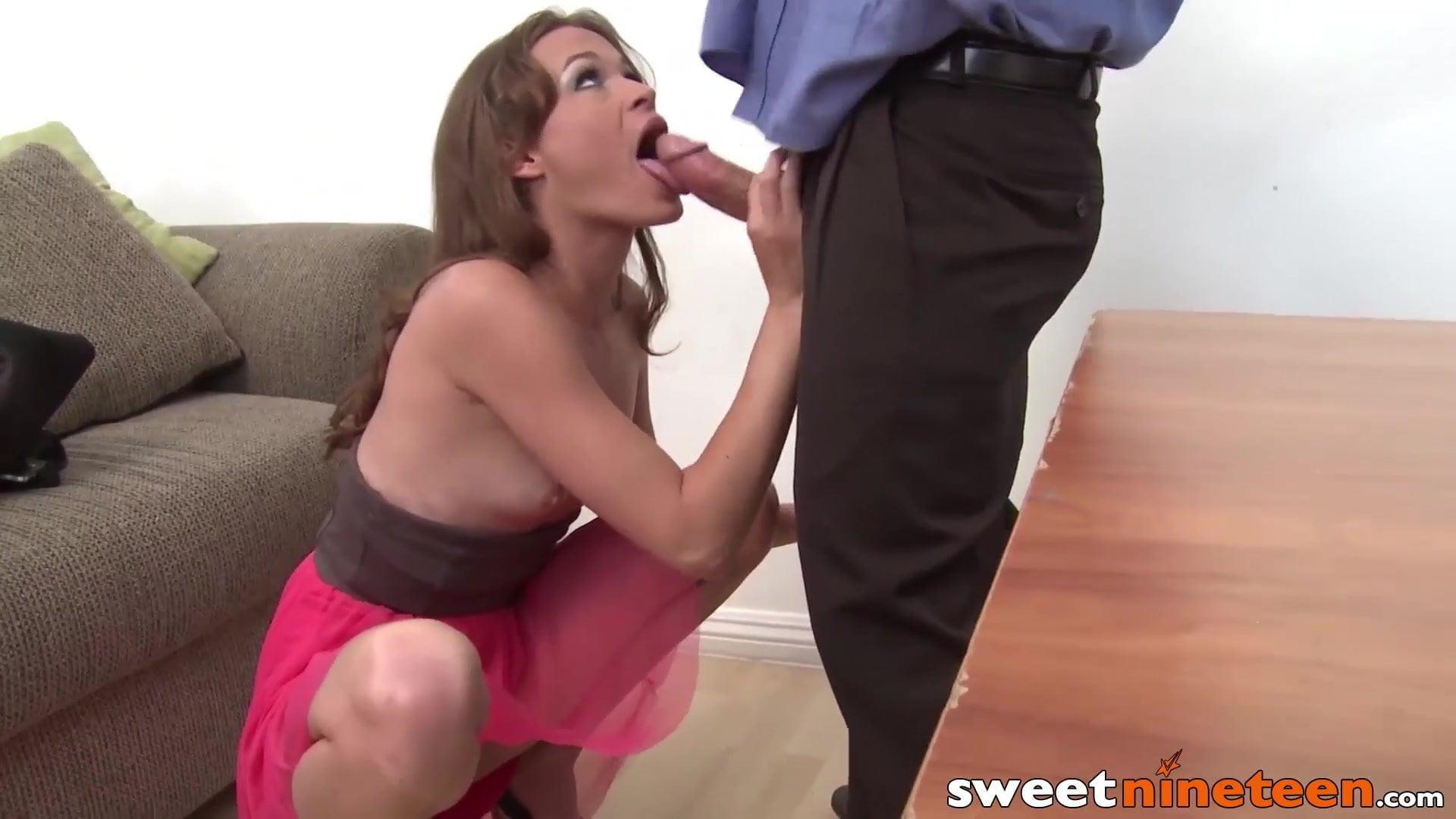 19yo secretary Kacy Lane fucked by boss within the workplace