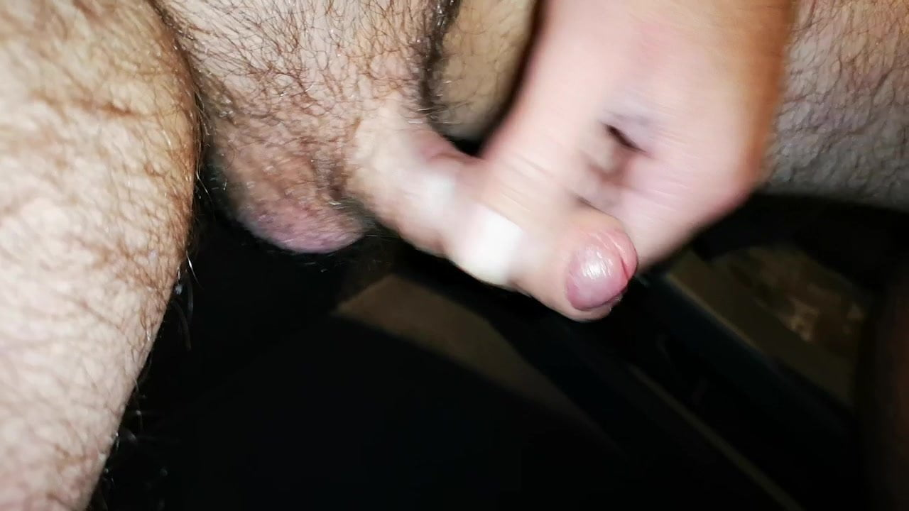 Small arduous cock piss and cum