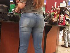 Cute Girl Jeans Booty