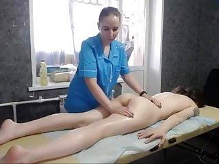 Cute pale brunette webcamer lesbian massage
