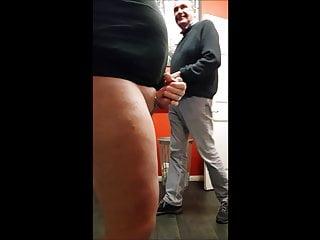 Caught masturbating in mens locker room