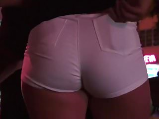 Candid PAWG in Tight White Shorts