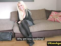 UK casting babe fucked in pussy at audition