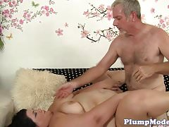 Busty plumper loves doggystyle sex